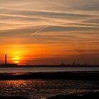 Solent Sonnenuntergang von Paul Hutchinson