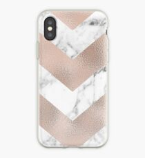 Rose Gold Marmor Chevron iPhone-Hülle & Cover