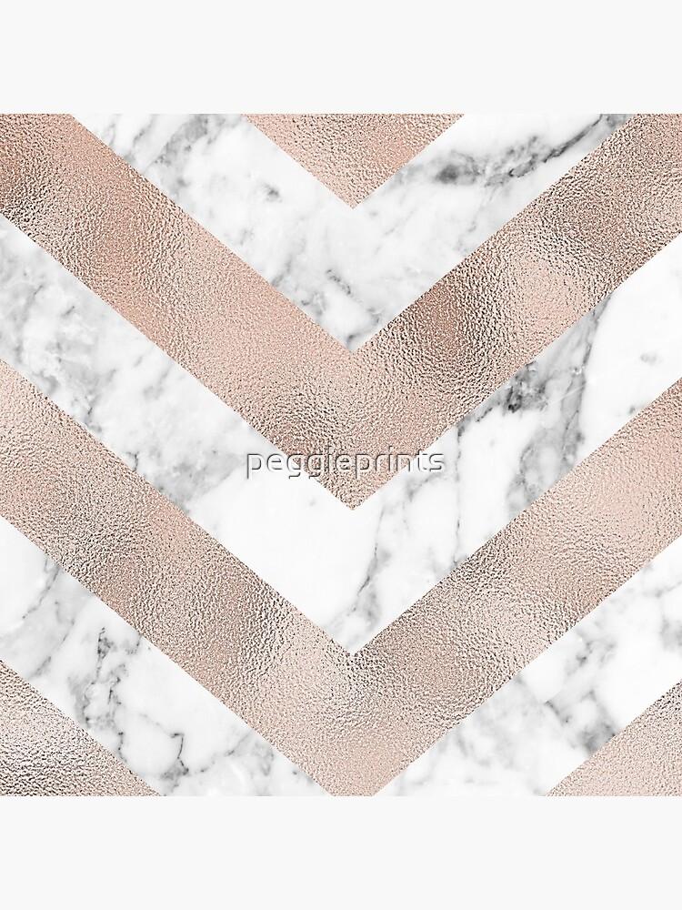 Chevron de mármol de oro rosa de peggieprints