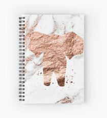 Elephant - rose gold marble Spiral Notebook