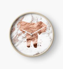 Elefant - Roségold Marmor Uhr