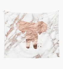 Elephant - rose gold marble Wall Tapestry