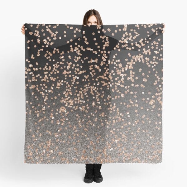 Black onyx - rose gold glitter Scarf