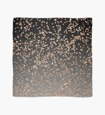 Black onyx - rose gold glitter Scarf