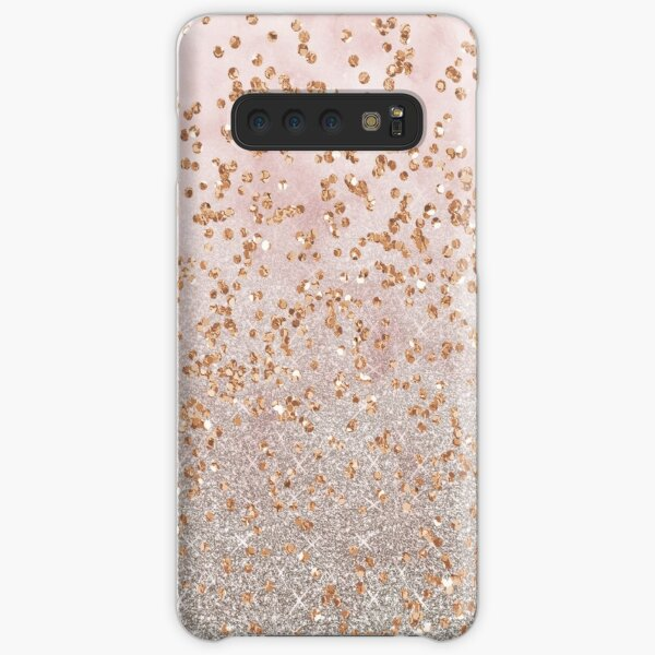 Mixed rose gold glitter gradients Samsung Galaxy Snap Case