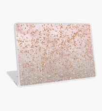 Mixed rose gold glitter gradients Laptop Skin