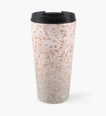 Mixed rose gold glitter gradients Travel Mug