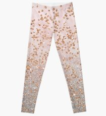 Mixed rose gold glitter gradients Leggings