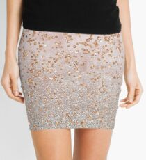 Mixed rose gold glitter gradients Mini Skirt