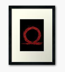 God of War - Omega Framed Print