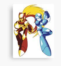 Mega Man And Zero — 01 Canvas Print