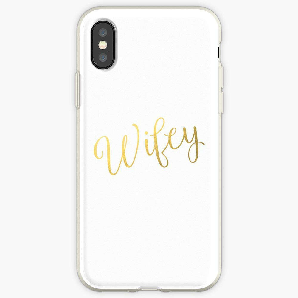 Wifey Faux Goldfolie iPhone-Hüllen & Cover