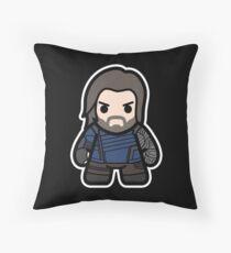 The Metal Hand Man Throw Pillow