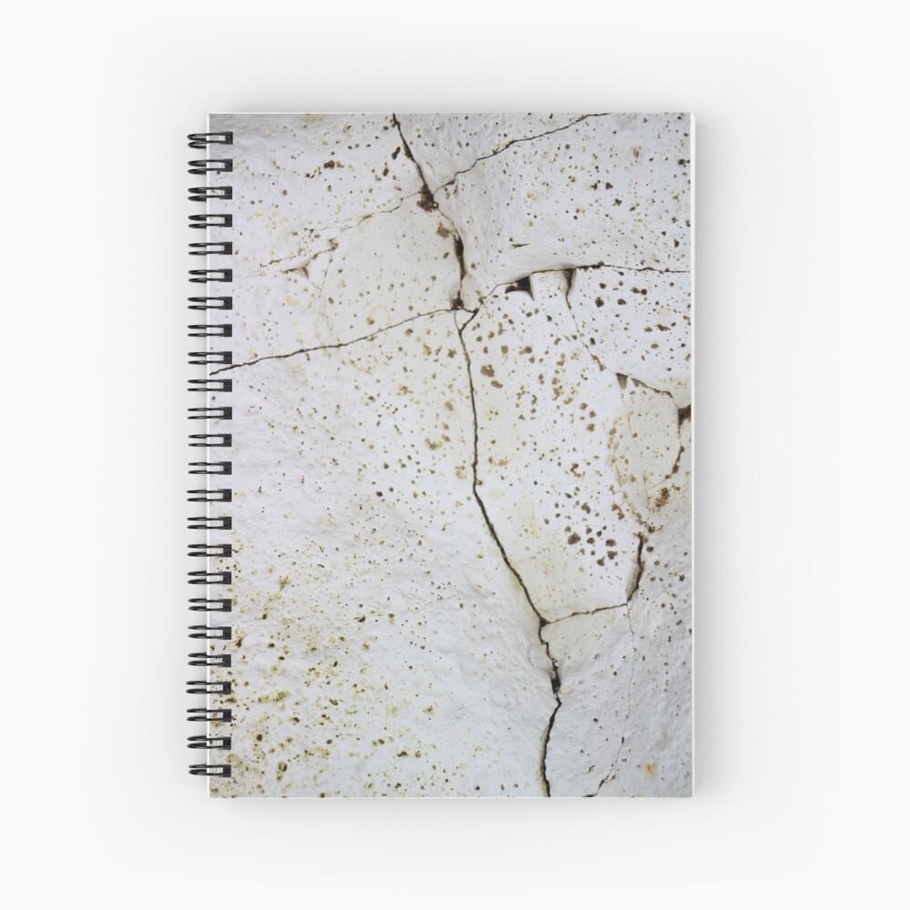 Cracked chalk Spiral Notebook