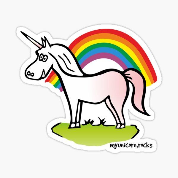 Einhorn und Regenbogen Sticker