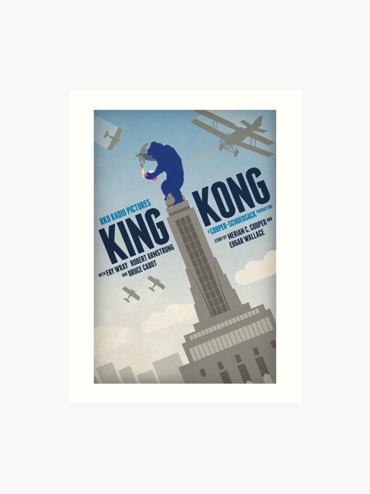 King Kong 1933 Alternative Movie Poster Art Print