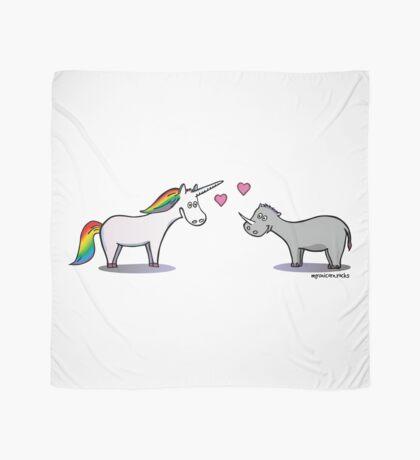 Unicorn & Rhino in love Scarf