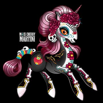 Day of the Dead Pony by CherryMartini