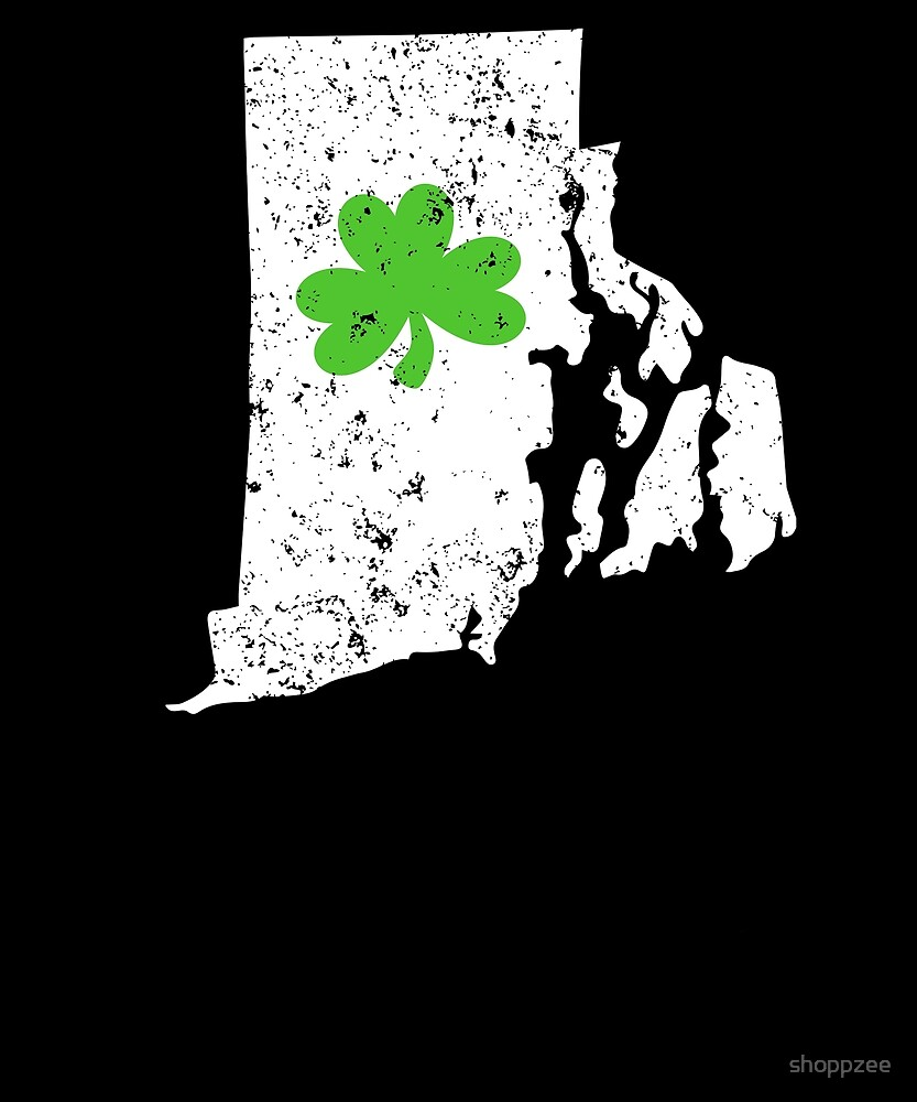 St Patricks Day T Shirt Rhode Island Shamrock Shirt by shoppzee