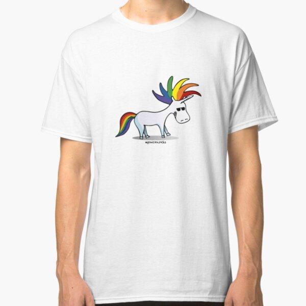 Punk Regenbogen Einhorn Classic T-Shirt