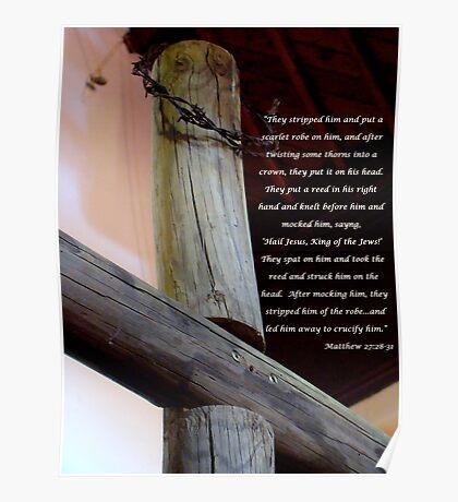 mocked and ridiculed Matt 27:28-31 Poster