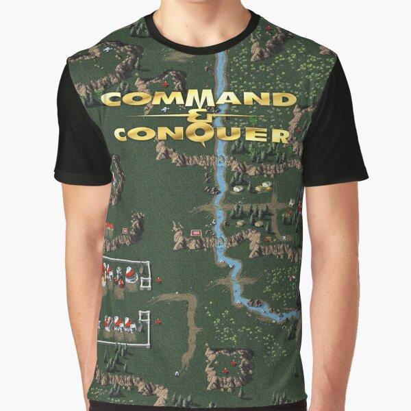Command & Conquer 1 Tiberian Dawn Retro DOS Game Fan Print Graphic T-Shirt