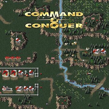 Command & Conquer 1 Tiberian Dawn Retro DOS Game Fan Print by hangman3d
