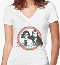 Modern Talking  Women's Fitted V-Neck T-Shirt