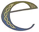 Celtic Knotwork Alphabet - Letter E by Carrie Dennison