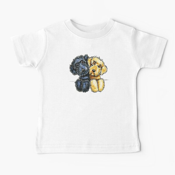 Black Yellow Labradoodles Lined Up Baby T-Shirt