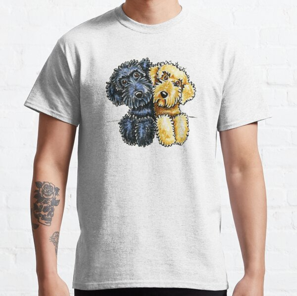Black Yellow Labradoodles Lined Up Classic T-Shirt