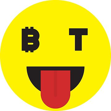 Bitcoin Laughing Tongue Smiley by Bitcoin-Smiley
