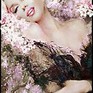 Marilyn Cherry Blossoms Pink Bright by TheoDanella