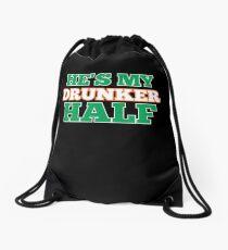 He's My Drunker Half Drawstring Bag