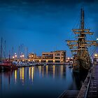 A TALL SHIP IN CASTELLON by Peter Sutton