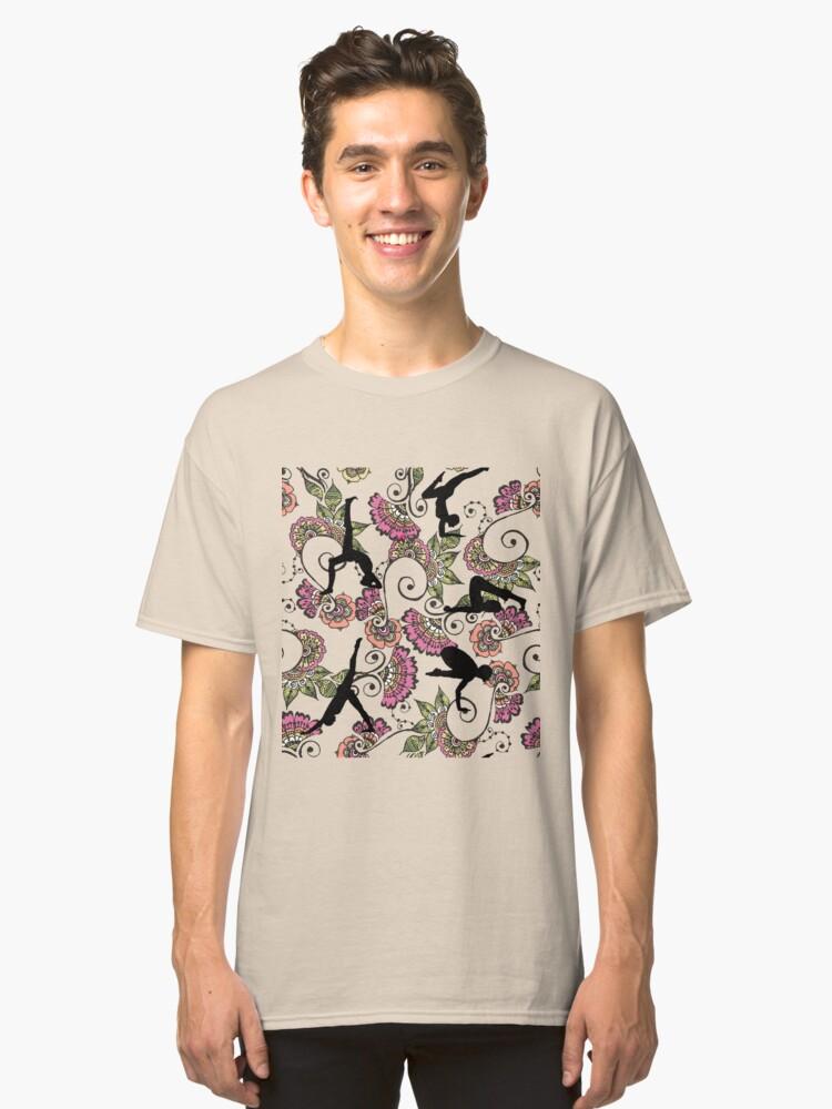 Pattern Ornamental Yoga Classic T-Shirt Front