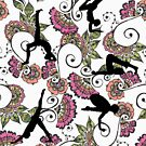 Pattern Ornamental Yoga by ramanandr
