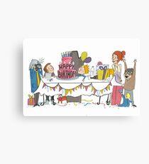Birthdaycard Canvas Print