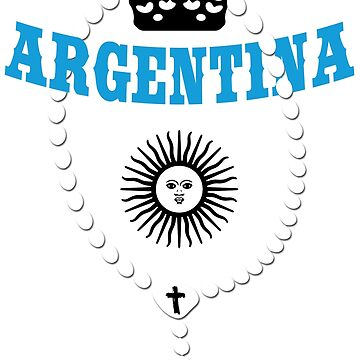 Argentina - Coat of Arms - Football - Soccer - Argentina Coat of Arms by lemmy666