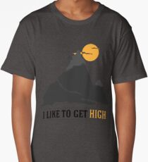 I Like To Get High Rock Climbing Long T-Shirt
