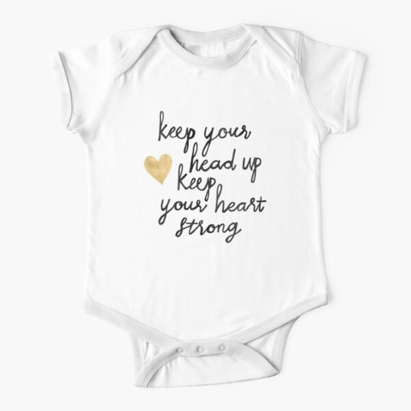 Keep Your Head Up Short Sleeve Baby One-Piece