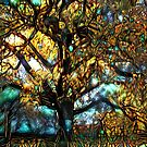 Redreaming Deep Dreamed Moreton Bay Jewel  by WENDY BANDURSKI-MILLER