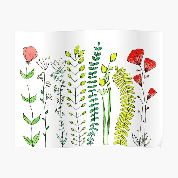 Wild flowers  Poster