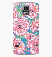 Floral Pink Pattern Lily Case/Skin for Samsung Galaxy
