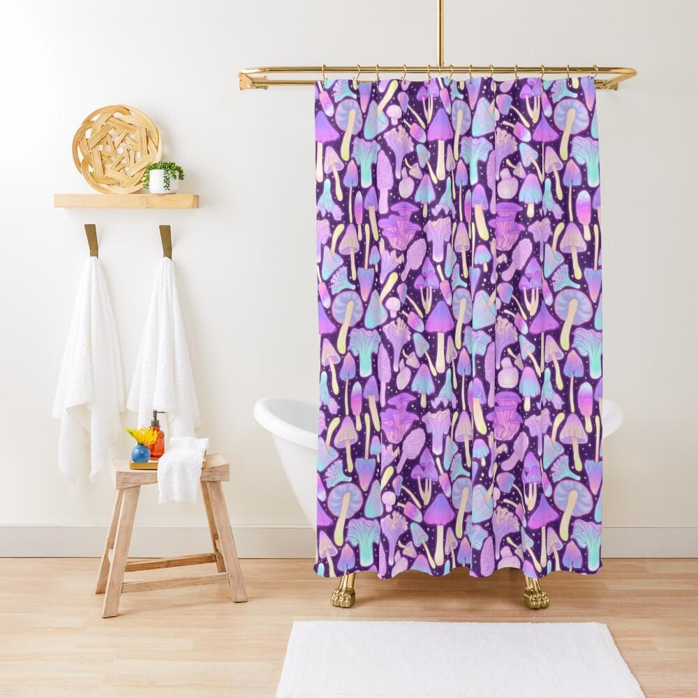 Spooky Mushroom Hunt Shower Curtain