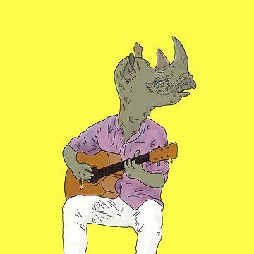 Rhino Guitarist by Dak-Mallard