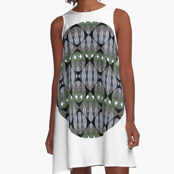 Schema, chart, proportion, adequacy, symmetry, fashionable, trendy, stylish A-Line Dress