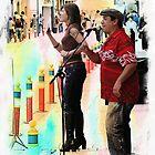 Street Performers In Cotacachi, Ecuador by Al Bourassa