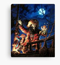 Monkey Island 2 LeChuck's Revenge (High Contrast) Canvas Print