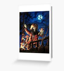 Monkey Island 2 LeChuck's Revenge (High Contrast) Greeting Card